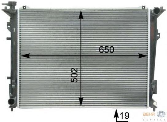8MK376763221 Радиатор системы охлаждения HYUNDAI: SONATA V (NF) 2.4 05-  KIA: MAGENTIS 2.0 05-
