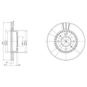 BG3134 Диск тормозной NISSAN ALMERA (N15) 1.4-2.0 95-00 передний вент.D=247мм.