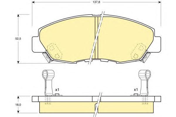 6108949 Колодки тормозные HONDA ACCORD 2.0-2.2 90-93 передние