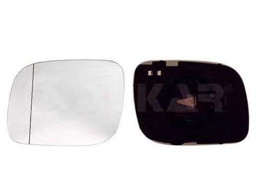 6432122 Стекло зеркала правое, сферическое / VW Touareg 03~07
