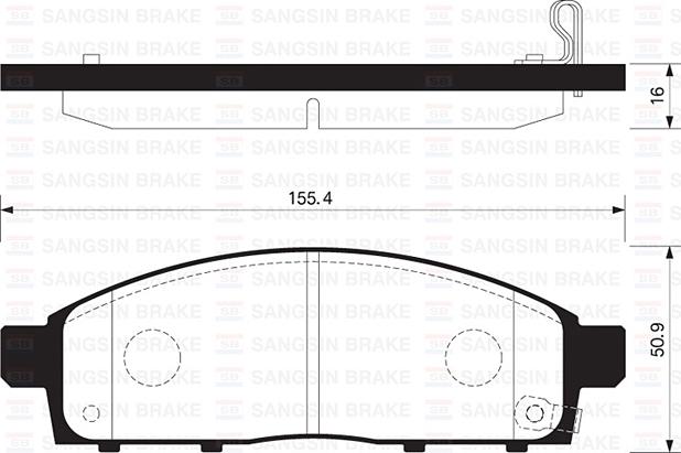 SP1361 Колодки тормозные MITSUBISHI PAJERO SPORT/MONTERO SPORT 08/L200 05 передние