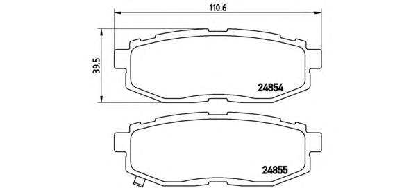 P78018 Колодки тормозные SUBARU TRIBECA 3.0/3.6 05- задние
