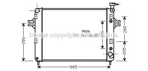 JE2044 Радиатор JEEP GRAND CHEROKEE 4.7 00-