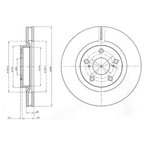 BG4114 Диск тормозной TOYOTA CAMRY (V40) 06-11/RAV 4 05- передний вент.D=296мм.