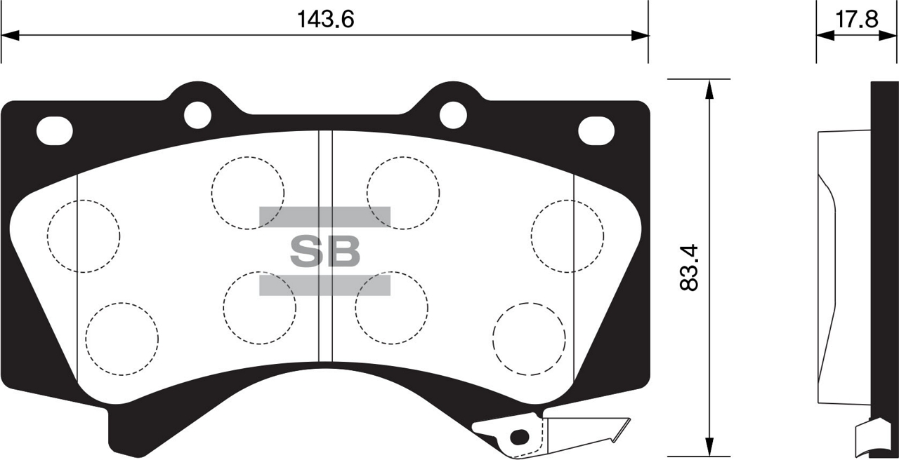 SP1381 Колодки тормозные TOYOTA LAND CRUISER J200 4.5D/4.7 07-/LEXUS LX570 08- передние