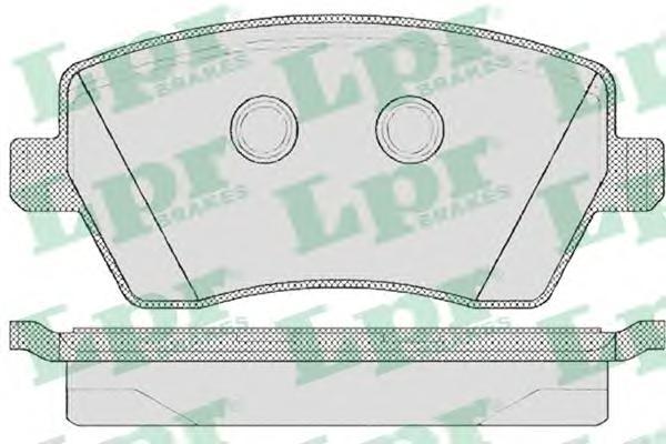 05P867 Колодки тормозные NISSAN MICRA 03/RENAULT CLIO 05передние