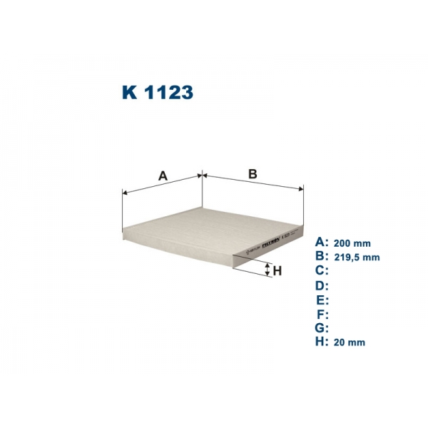 K1123 Фильтр салона TOYOTA AVENSIS/COROLLA 02-