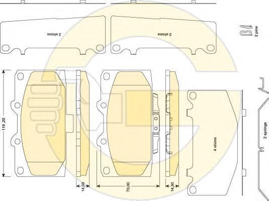 6134709 Колодки тормозные SUBARU IMPREZA 2.0-2.5 05- передние