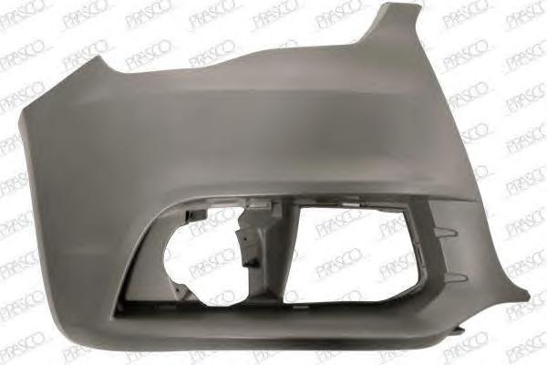 AD1201103 Бампер передний, правая часть (для а/м без омывателя фар) / AUDI A1 10~