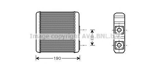 DN6139 Радиатор отопителя NISSAN PRIMERA 1.3-3.0 92-96