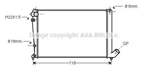 CNA2107 Радиатор PEUGEOT 406 1.8/2.0 95-04