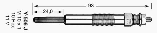 2419 Свеча накала D-Power 7 Y-506J