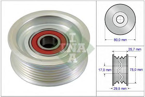 532058710 Ролик ремня приводного HONDA ACCORD 2.4/CIVIC 2.0 01-