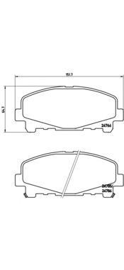 P28043 Колодки тормозные HONDA ACCORD 2.0/2.4 АКПП 08- передние