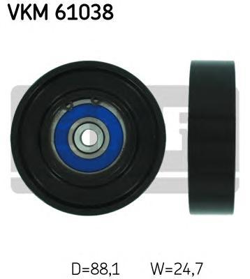 VKM61038 Ролик промежуточный поликлинового ремня TOYOTA: YARIS 1.0 16V/1.3 99-05, YARIS 1.3 VVT-i 05-, YARIS седан 1.3 05-