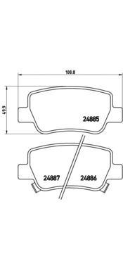 P83112 Колодки тормозные TOYOTA AVENSIS 09- задние