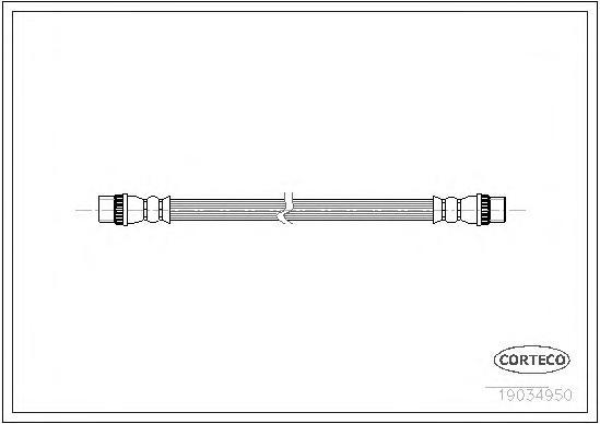 19034950 Шланг тормозной PEUGEOT: 207 1.4/1.4 16V/1.4 HDi/1.6 16V/1.6 16V RC/1.6 16V Turbo/1.6 16V VTi/1.6 HDi 06-, 207 CC 1.6 1