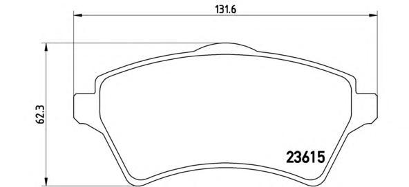 P44011 Колодки тормозные LAND ROVER FREELANDER 98-06 передние