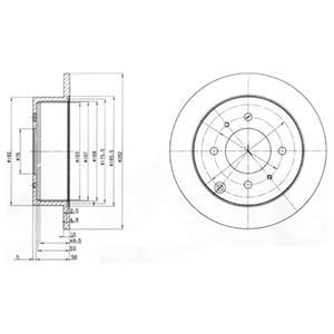 BG4010 Диск тормозной HYUNDAI MATRIX 01-/SONATA 98-/KIA MAGENTIS 01- задний D=262мм.