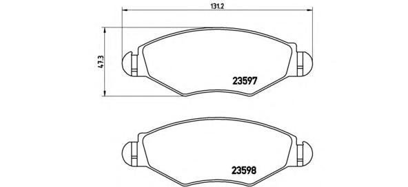 P61063 Колодки тормозные PEUGEOT 206/206SW 01(-ABS) передние