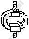 255511 Подвеска глушителя NISSAN TERRANO 2.4-2.7 93-