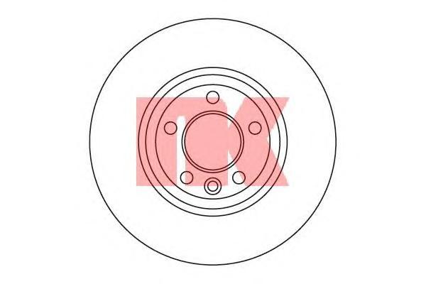 204796 Диск тормозной VW MULTIVAN/TRANSPORTER V 1.9-3.2 03- передний D=333мм.
