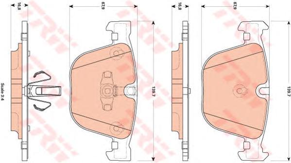GDB1857 Колодки тормозные BMW F07 GT 535-550 10-/F01/02/03/04 730-760 08- задние