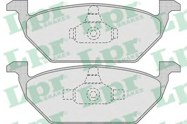 05P730 Колодки тормозные AUDI A3 97/VW G4/SKODA OCTAVIA 9709 1.4/1.6/1.8 передние