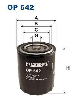 OP542 Фильтр масляный FORD SIERRA/SCORPIO 2.3D/2.5D/FIAT MAREA 2.4D
