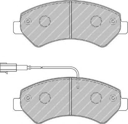 """FVR1925 Колодки тормозные CITROEN JUMPER/FIAT DUCATO/PEUGEOT BOXER R16"""" 06- передние"""