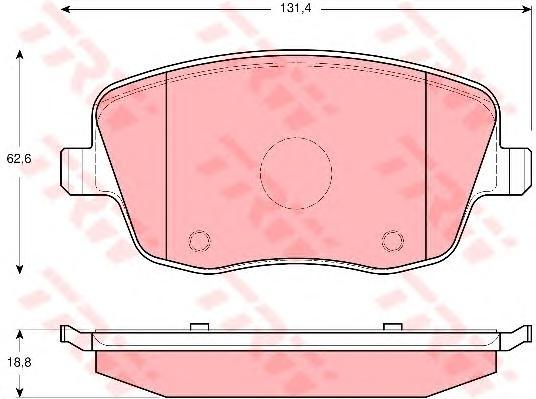 GDB1414 Колодки тормозные SKODA FABIA/VOLKSWAGEN POLO 1.2-1.9D 02- передние
