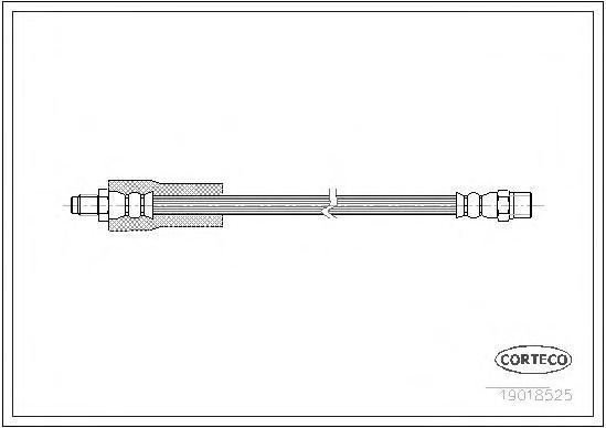 19018525 Шланг тормозной VOLVO: 440 K 1.6/1.7/1.7 Turbo/1.8/1.9 Turbo-Diesel/2.0 88-96, 460 L 1.6/1.7/1.7 Turbo/1.8/1.9 Turbo-Di