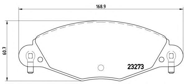 P61072 К-т торм. колодок Fr Citroen C5