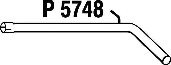 P5748 Трубопровод выпускной SKODA FABIA / VW POLO 1.4-1.9TDi 00-