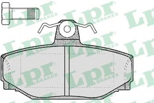 05P217 Колодки тормозные VOLVO 740/760/940/960/V70 2.3-2.5 97-00 задние