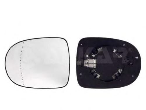 6432176 Стекло зеркала RENAULT CLIO IV 09- правое с обогр.