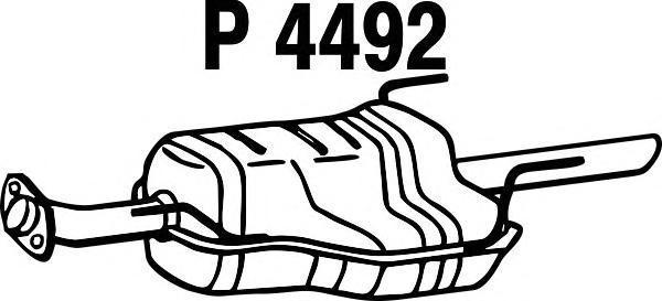 p4492 Глушитель выхлопных газов конечный