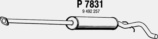 p7831 Средний глушитель выхлопных газов