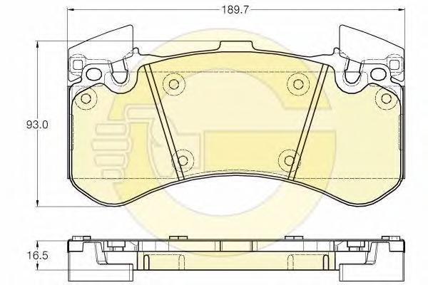 6119762 Колодки тормозные AUDI A8 (1LN) 09- передние