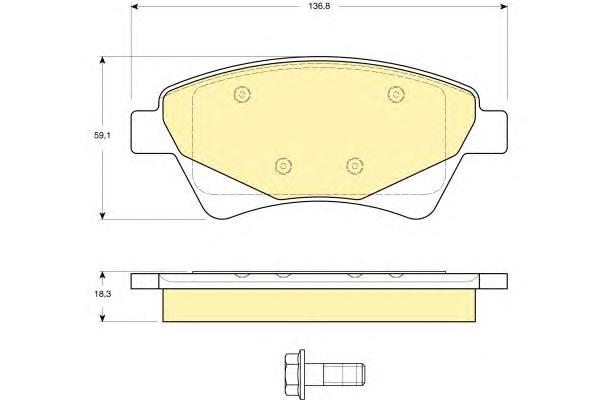 6115974 Колодки тормозные RENAULT KANGOO 01-/MEGANE II 02-/SCENIC II 03- передние