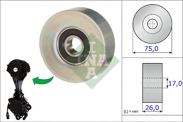 532067610 Ролик ремня приводного CITROEN/PEUGEOT/MINI 1.4/1.6 06-