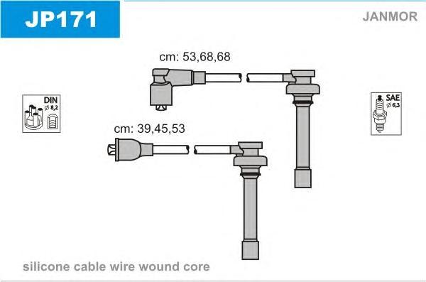 JP171 Комплект проводов зажигания CHRYSLER: CIRRUS 94-00, SEBRING купе 95-00, STRATUS 95-01, STRATUS кабрио 96-01, MITSUBISHI: M