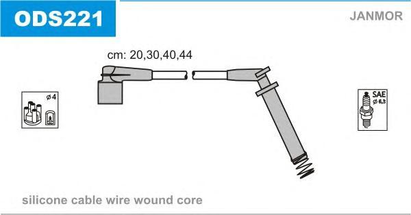ODS221 Комплект проводов зажигания OPEL: CORSA A хэтчбек 82-93