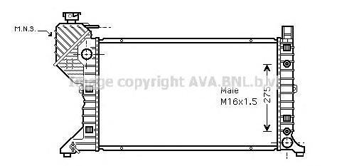 MSA2182 Радиатор MB SPRINTER 2.3D/2.9D A/T 95-07