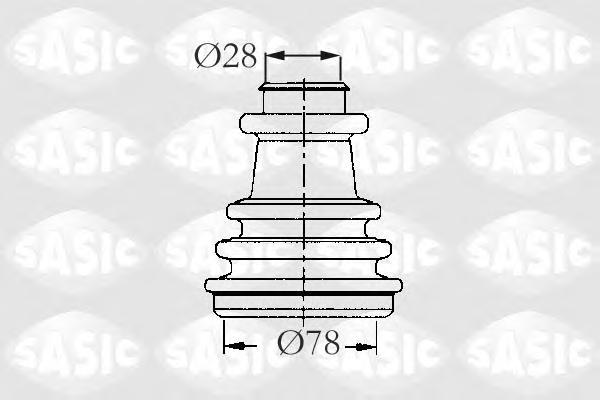 2933733 Пыльник ШРУСа RENAULT 19/21/MEGANE 1.4-2.0 86- нар.