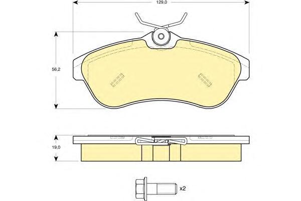 6114961 Колодки тормозные CITROEN C2/C3 1.4-1.6 02- передние