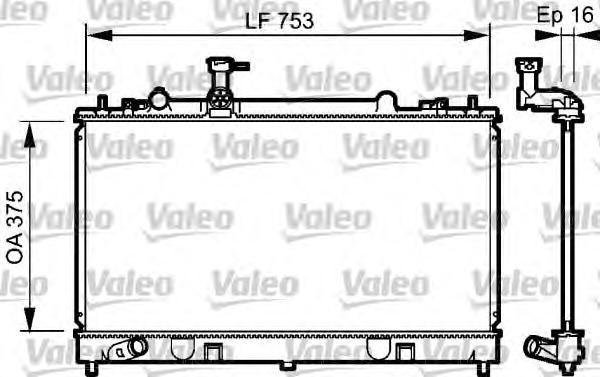 734484 Радиатор системы охлаждения MAZDA: 6 (GG) 1.8/2.0 02-, 6 Hatchback (GG) 1.8/2.0 02-, 6 Station Wagon (GY) 1.8/2.0/2.3 02-