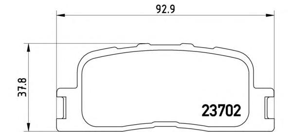 P83088 Колодки тормозные TOYOTA CAMRY (_V30_) 2.4/3.0 0104/HIGHLANDER 0007 задние
