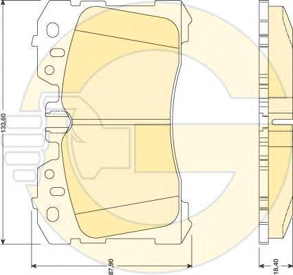 6134739 Колодки тормозные LEXUS LS460-600 06- передние