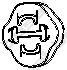 255853 Крепеж глушителя VAG